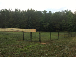 combination fence install