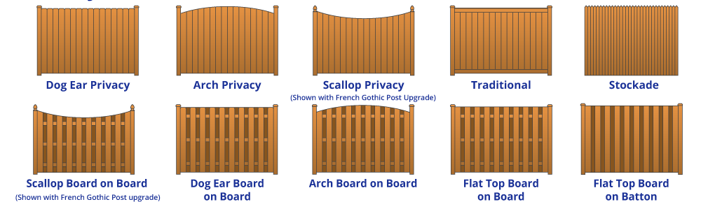 privacy fence variations