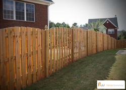 scalloped privacy fence