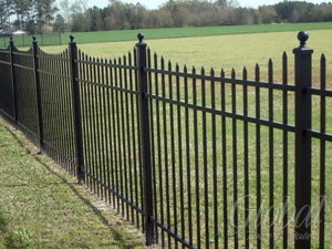 Scalloped Aluminum Fence
