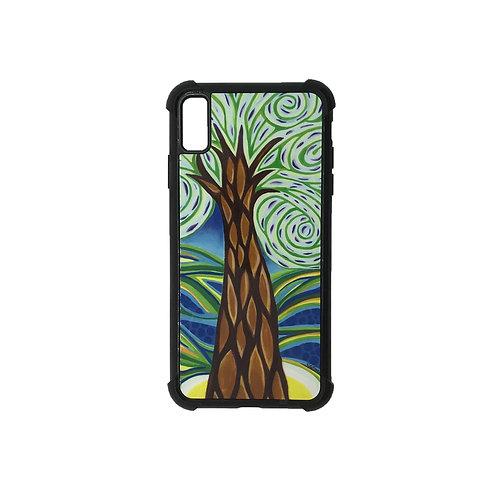 iPhone X Max phone case - Green Tree