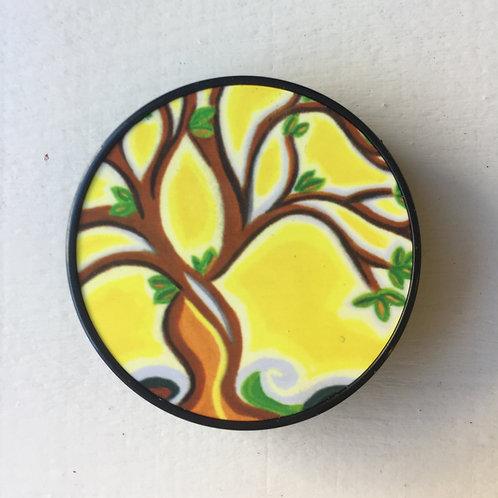 Yellow tree phone grip