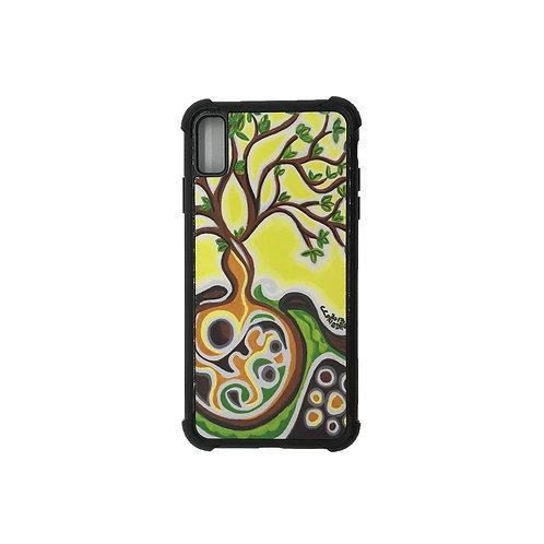 iPhone X Max phone case - Yellow Tree