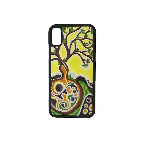 iPhone X phone case - Yellow Tree