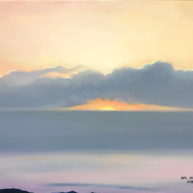 Sunrise over the dead sea 2