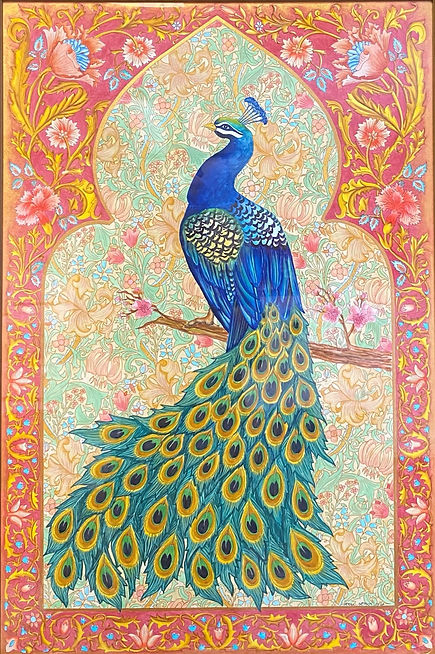 Peacock with lillies.jpg