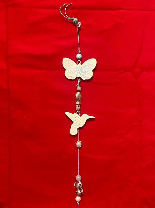 Butterfly with humming bird