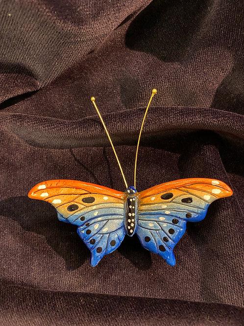 Wide wings in blue