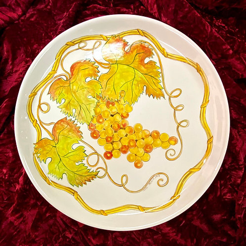 Grape ceramic serving platter