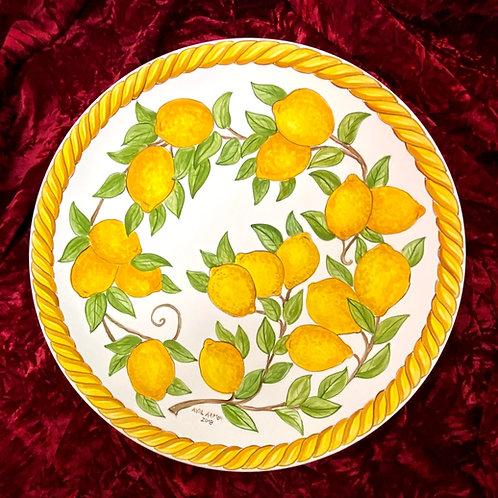 Lemons serving platter