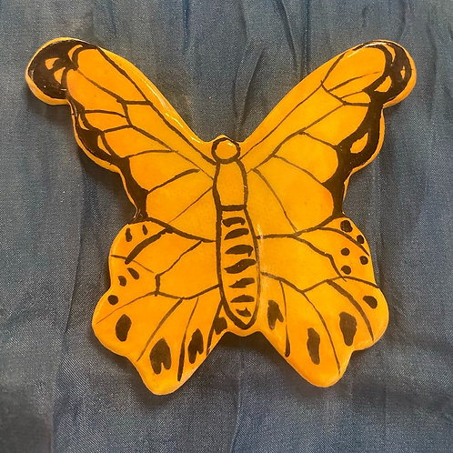 Large Yellow orange butterfly