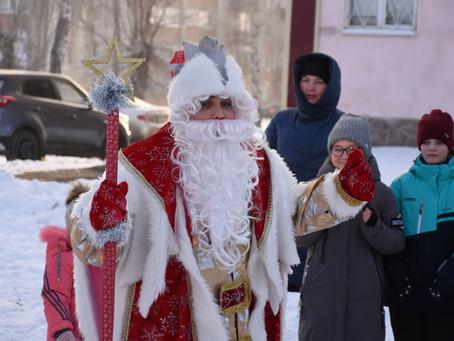 Праздничное открытие Новогодней ёлки м-н Вокзальный!