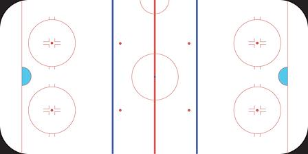 Хоккейная площадка европейского образца.