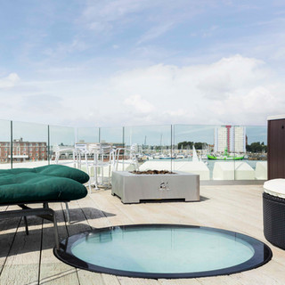 Old Portsmouth roof terrace