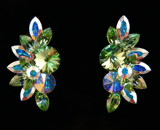 FC182 Swarovski Peridot Earrings
