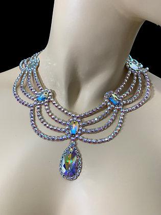 JLN17- Crystal AB Necklace