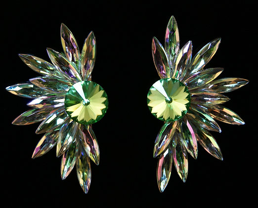 FC187 Swarovski Peridot Earrings