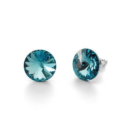 Elite Aquamarine - Stud Earrings
