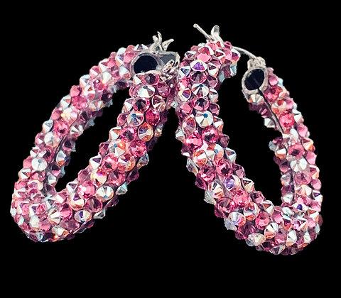 DSC - Rose / Crystal AB Earrings
