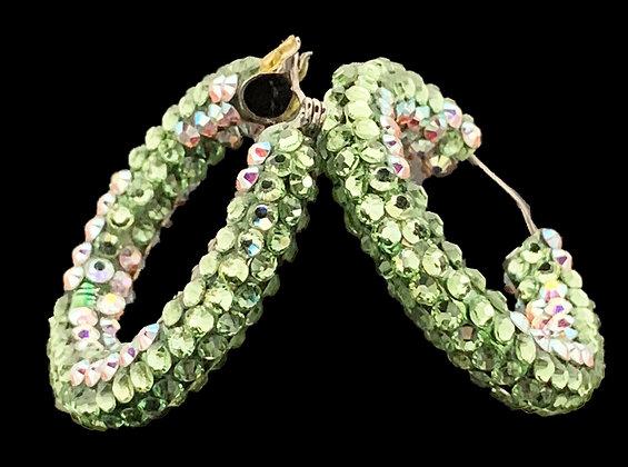 DSC - Peridot / Crystal AB Earrings