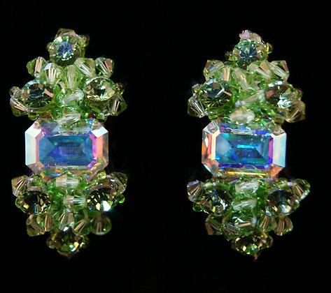 FC178 Swarovski Peridot Earrings