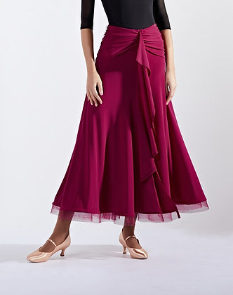 Ebony Wine Ballroom Skirt