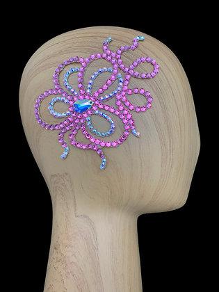 JLH129 Rose / Crystal AB Hair Piece