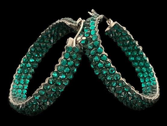EC- Emerald Hoop Earrings