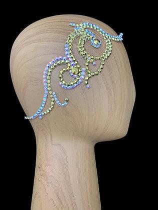 JLH135 Gold / Crystal AB Hair Piece