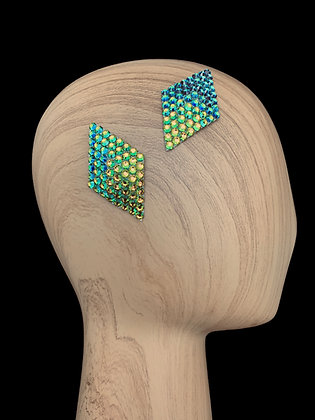 JHC - Peridot  AB Hair Clips