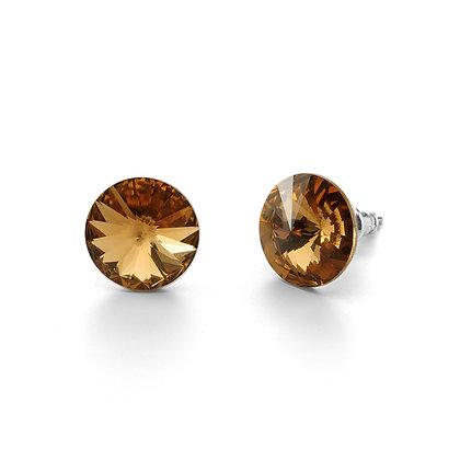 Elite Smoked Topaz - Stud Earrings