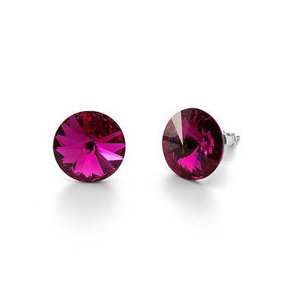 Elite Fuchsia - Stud Earrings