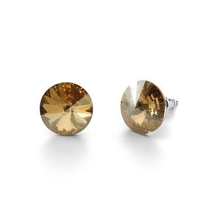 Elite Golden Shadow - Stud Earrings