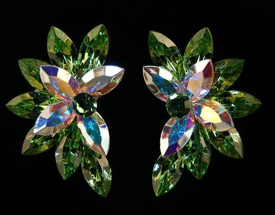 FC179 Swarovski Peridot Earrings