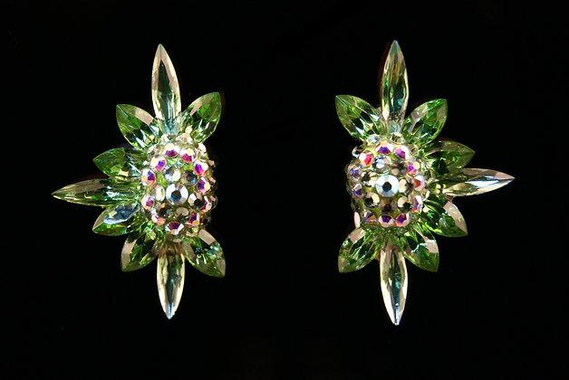 FC176 Swarovski Peridot Earrings