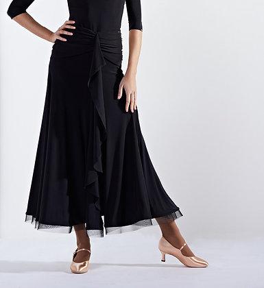 Ebony Black Ballroom Skirt