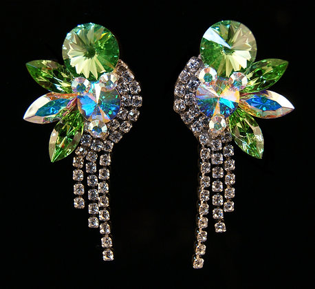 FC181  Swarovski Peridot Earrings