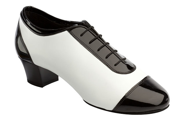 Style 8505 - Black Patent/White Leather