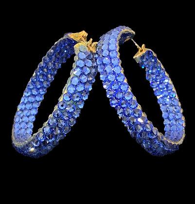 EC- Sapphire Hoop Earrings