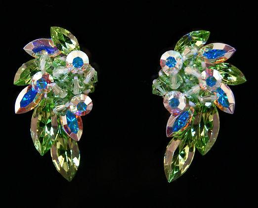 FC186 Swarovski Peridot Earrings