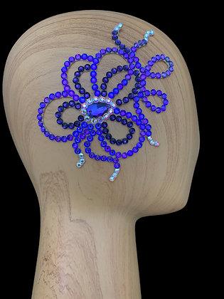 JLH129 Purple Velvet / Crystal AB Hair Piece