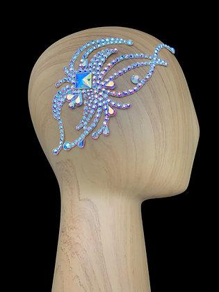 JLH120 Crystal AB Hair Piece