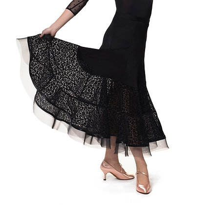 RS Peach Ballroom Skirt