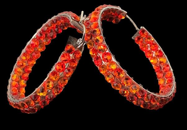 EC - Frieopal Hoop Earrings