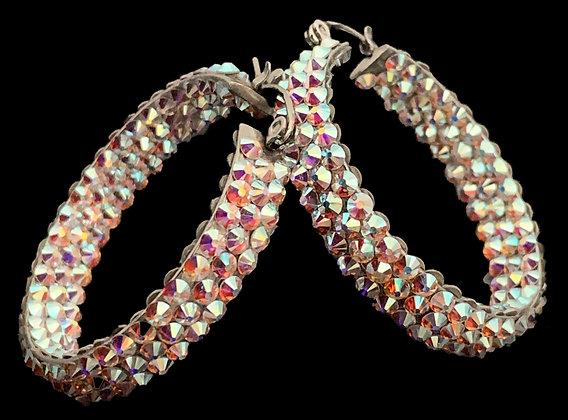 EC - Crystal AB Hoop Earrings