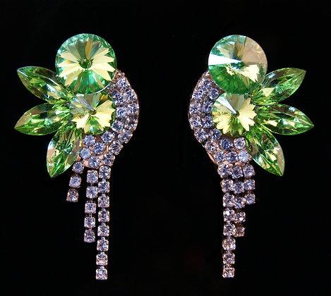 FC180  Swarovski Peridot Earrings