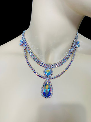 JLN22 - Crystal AB Necklace