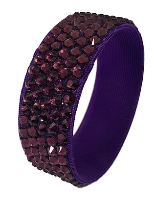Stardust - Purple Velvet Bangle