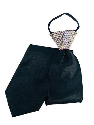 NF - Crystal AB Black Zip Tie