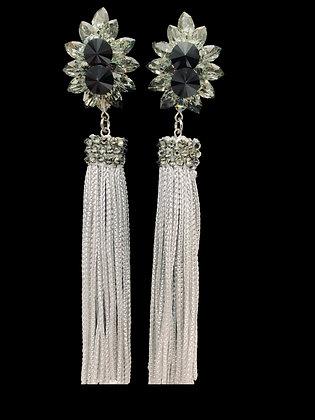 SSC Jet Fringe Earrings
